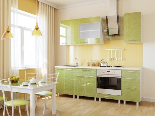 Кухня Мария Зеленый Лен