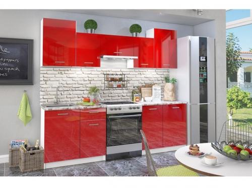 Кухонный гарнитур Бланка глянец красный