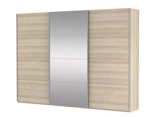 Шкаф-купе 3-х дверный Прайм ДСП-Зеркало Сонома