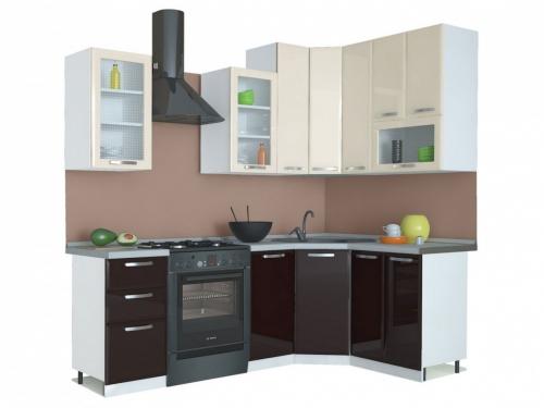 Угловая кухня Равенна Лофт 1650х1450 высокие шкафы