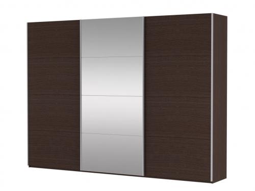 Шкаф-купе 3-х дверный Прайм ДСП-Зеркало венге
